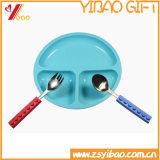 Piatto infantile pranzante di un pezzo della piastrina di sorriso di un pezzo del silicone (XY-PI-191)