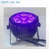 Wasserdichte 9PCS 15W RGBW LED NENNWERT Beleuchtung