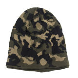 Мужские мягкий стретч зимние трикотажные двойной слой теплого Beanie Camo из жаккардовой ткани с Red Hat (HW422)