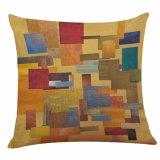 Nordisches abstraktes Farbanstrich-Viereck durch Kissen-Deckel