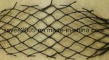Rete priva di nodi nera dei pesci dell'HDPE dell'attrezzatura di pesca di torsione