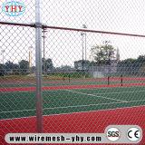 A cor revestida instala a cerca da ligação Chain usada no campo de jogos