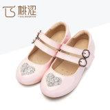 Principessa piana poco costosa Shoes delle nuove di modo dei bambini del doppio dell'inarcamento ragazze della cinghia