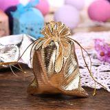 선물은 사탕 부대 피복 졸라매는 끈 결혼식 호의 보석 주머니를 자루에 넣는다