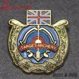 Kundenspezifische Goldmetallübertragungsgütepin-Polizei Badge für Andenken