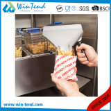 Pelle à épuisette commerciale d'entonnoir de pommes frites d'acier inoxydable avec de doubles traitements détachables en plastique