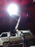 Mástil desmontable hidráulico de la torre de iluminación LED de energía eléctrica portátil planta de luz de la Cantera de minería de la Torre de Luz generador de gas de petróleo de yacimientos petrolíferos de solo un neumático de neumáticos