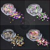 Цветастые смешанные Sequins яркия блеска искусствоа ногтя украшений круга 3D