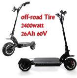 motorino elettrico di 800W 1000W 2000W Citycoco con la batteria smontabile e la posizione di plastica forte del piede
