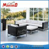 Для использования вне помещений 5-местный полимерная плетеной диван для продажи