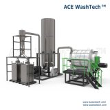 Sistema de sequía que se lava de pulido de la botella automática industrial del HDPE