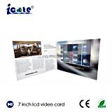 Os bestseller cartões video novos do LCD de 7 polegadas com Alto-Vídeo cardam o folheto do Por atacado-Vídeo