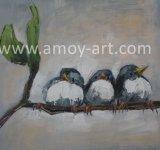 ホーム装飾のための現代ナイフの鳥の油絵