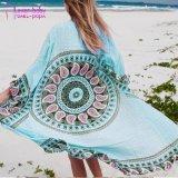 Kimono van het Strand van Aqua Mandala van de Dames van de Stijl van de Miauw van de manier de Lange