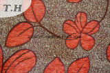 Tan lindo pequeñas flores Jacquard tejido chenilla sofá por 310gsm