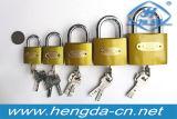 Yh1257 Cadeado de latão temperada com trava de segurança com duas chaves