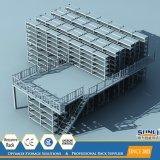 Entresuelo de estante del Decking del metal con SGS/ISO para el almacenaje del almacén