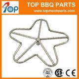 Forma de estrella Custom Fogata de acero inoxidable tubos de gas