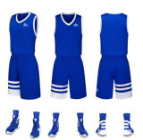 Custom Color Azul Blanco Rojo Camiseta de baloncesto