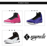 Commerce de gros de basket-ball professionnel sport chaussures running Sneakers