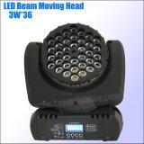 36*3W RGBW LED bewegliches Hauptträger-Wäsche-Licht