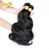 Alimina自然なカラーバージンの加工されていない人間の毛髪の拡張