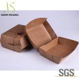 음식 샐러드 Foldable Kraft 종이 수송용 포장 상자