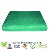 緑及び黒いPPのNonwovenファブリックが付いている移動毛布