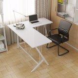 L形の優雅で白い事務机、現代机