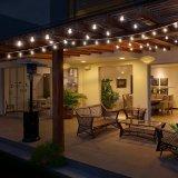 Branca quente G40 LED de fio de cobre de luz de String para decoração de férias