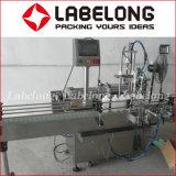 Máquina de etiquetas tampando de enchimento do petróleo automático da graxa 2000bph