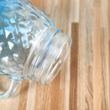 Vidrio de forma Pinapple Mason Jar del vaso de zumo de contenedor de bebidas