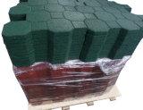 Caucho reciclado de caucho de enclavamiento de tejas, azulejos, baldosas de caucho de juegos