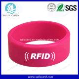 Braccialetti a doppia frequenza del silicone di RFID con Hf&UHF