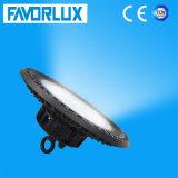 Luz elevada do louro do UFO do diodo emissor de luz de IP65 100W com armazenamento da iluminação