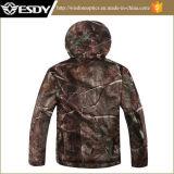 Tree Camo Impermeável Respirável Outdoor Sharkskin Soft Shell Jacket Hoodie