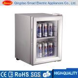 Mini-arrefecedor de porta de vidro com porta comercial