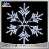 Weißes beleuchtetes Seil-Licht-Weihnachtsschneeflocke-Licht IP44