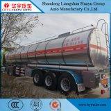 38000L comestible/huile d'olive a isolé la remorque de camion-citerne d'acier inoxydable semi pour le transport de pétroles