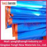 Bâche de protection lourde renforcée orange bleue de tissu de PE
