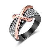 De hete In het groot Juwelen van het Punt namen de Gouden DwarsRing van de Diamant toe