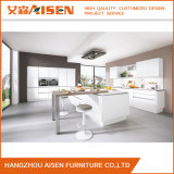 Gabinete de cozinha elevado branco da laca do lustro do baixo preço