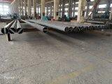 35FT Q345 matériel électrique d'épaisseur 3mm poteau d'acier galvanisé
