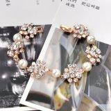 Braccialetto popolare della pietra della perla dell'elemento con il cristallo