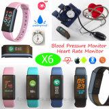 Bracelet intelligent imperméable à l'eau de quatre écrans couleur avec les Multi-Fonctions X6