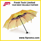 Parapluie pliant à motif de tournesol OEM avec logo