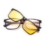 Estrutura Tr90 promocionais Clipe Magnético sobre óculos de sol com lente polarizada