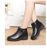 Commerce de gros de haute qualité brillante de la mode des chaussures de cuir synthétique Mesdames plat
