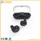 Mini receptores de cabeza gemelos sin cuerda del en-Oído para los teléfonos elegantes con el caso del cargador