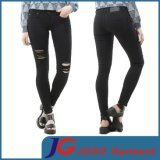 Fashion Black Girl Skinny Denim Pants (JC1395)